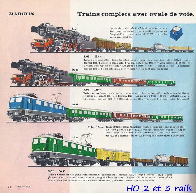 Coffrets Märklin 1936 - 1968 (rouges, noirs, verts ou bleus) 243355Marklincatalogue19623R