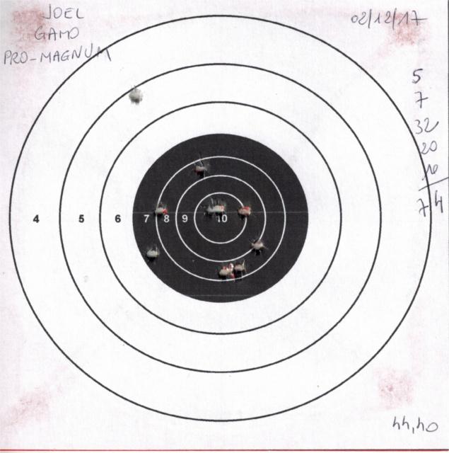 Tests plombs avec carabine Gamo Replay 244569GAMOREPLAYGAMOPROMAGNUM