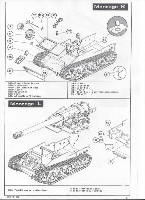 AMX 13 canon de 155 - (Réf. L782) 1/35 247327AMX13155782010Heller135