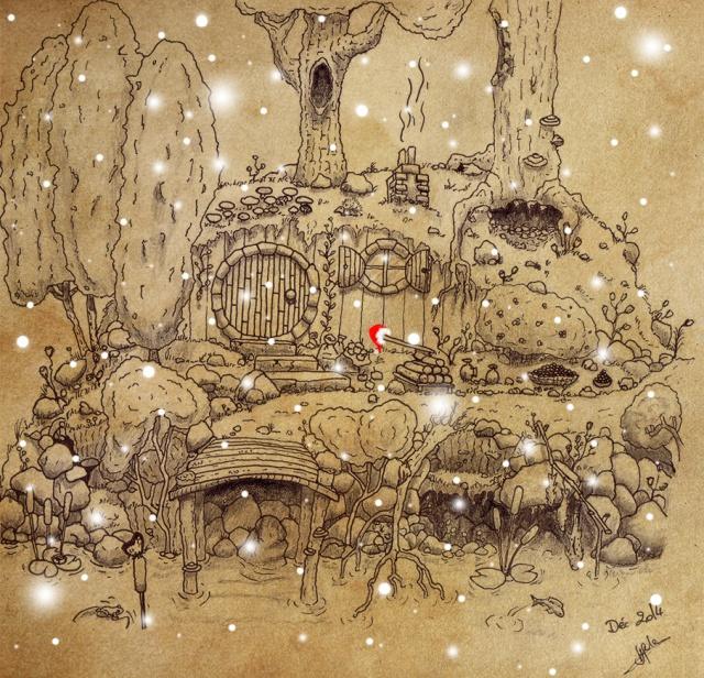 Concours de dessin n°2 : Noël  252490HobbitNoel