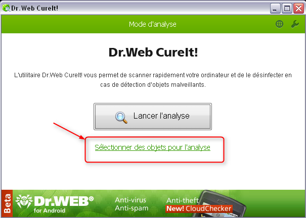 DrWEB CureIt 254036drwebselect