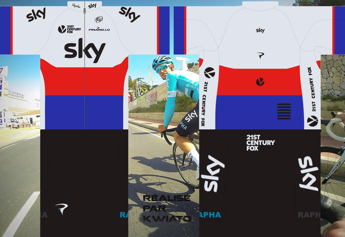 SKY Pro Cycling 254400skymaillotcze
