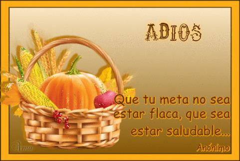 Canasta Saludable con Frase 264736ADIOS