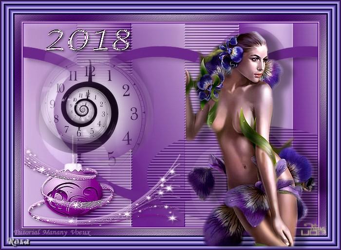 "N°1a ""Fiestas de fin de año"" Meilleurs Voeux 275882ROSATUTORIALMANANYVOEUXENERO"
