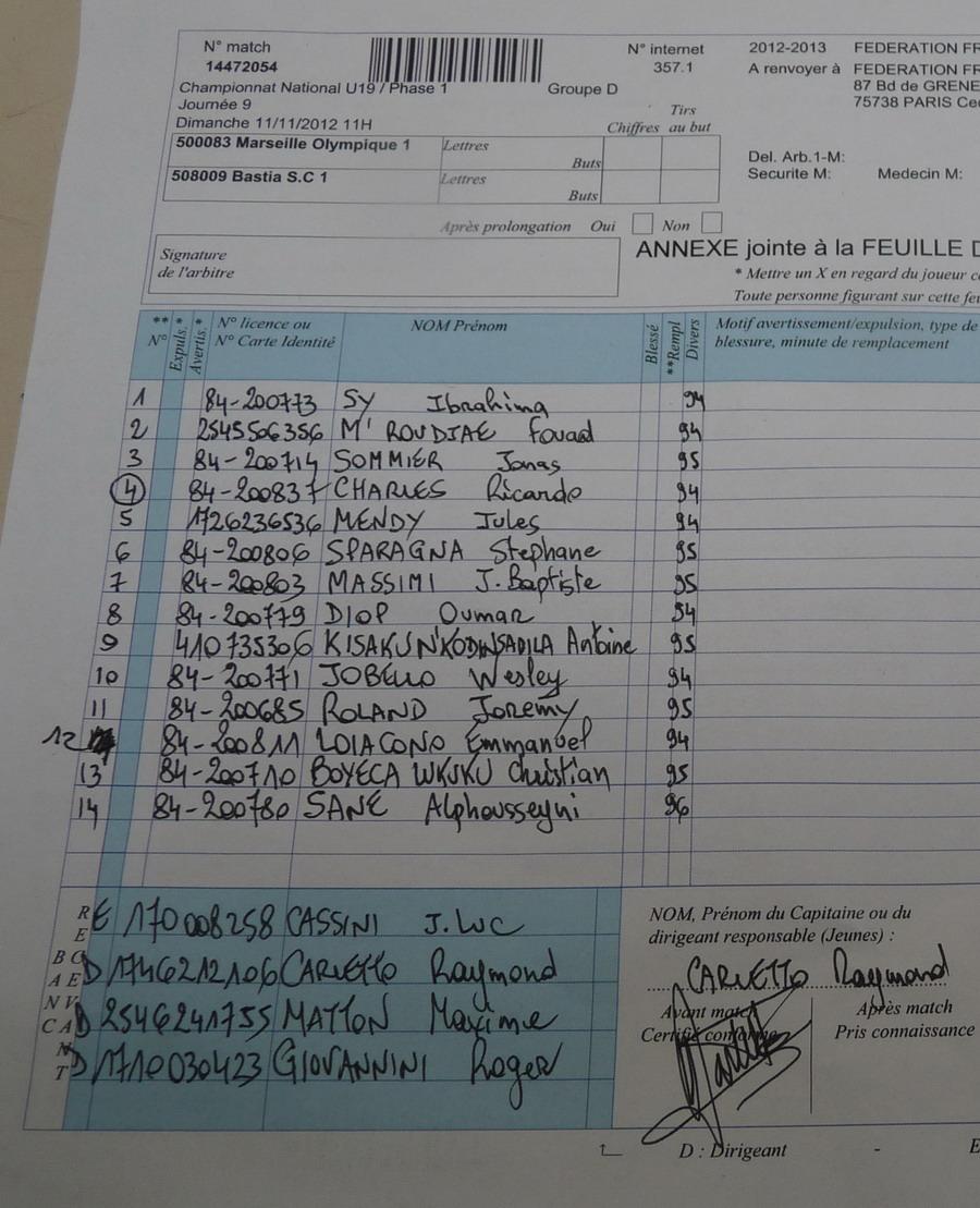OLYMPIQUE DE MARSEILLE  :LE 11 NOVEMBRE 2012  LES U19 NATIONAUX OM ET LA  RESERVE OM .. UNE JOURNEE CORSE BIEN REUSSIE !!! - Page 2 278158P1310271