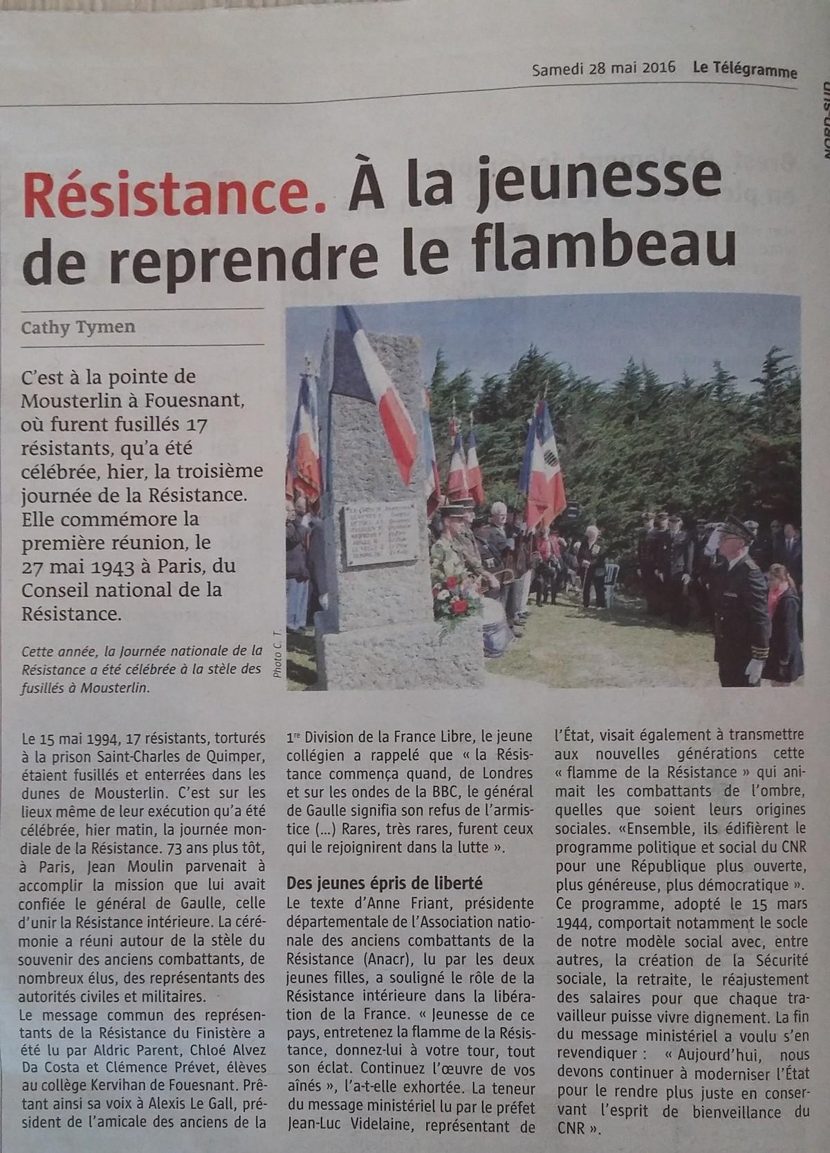 [ Histoire et histoires ] 27 mai Journée Nationale de la Résistance 28095220160528105124