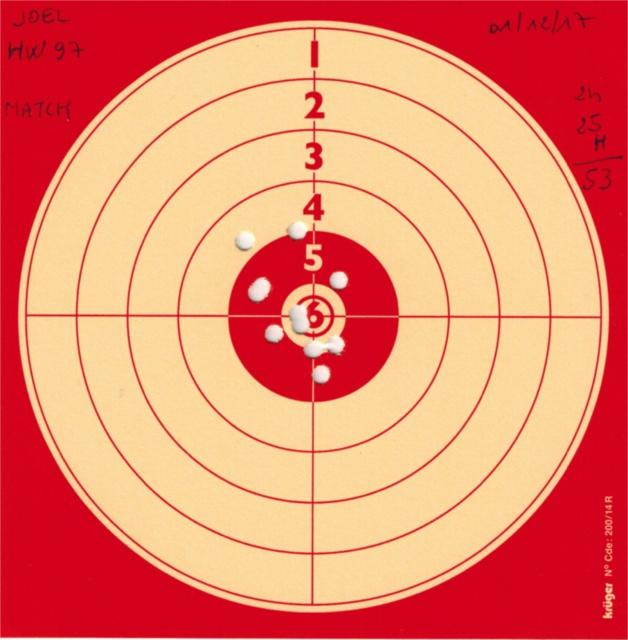 Tests plombs avec carabine Weihrauch HW97 BL 290121HW97GAMOMATCH
