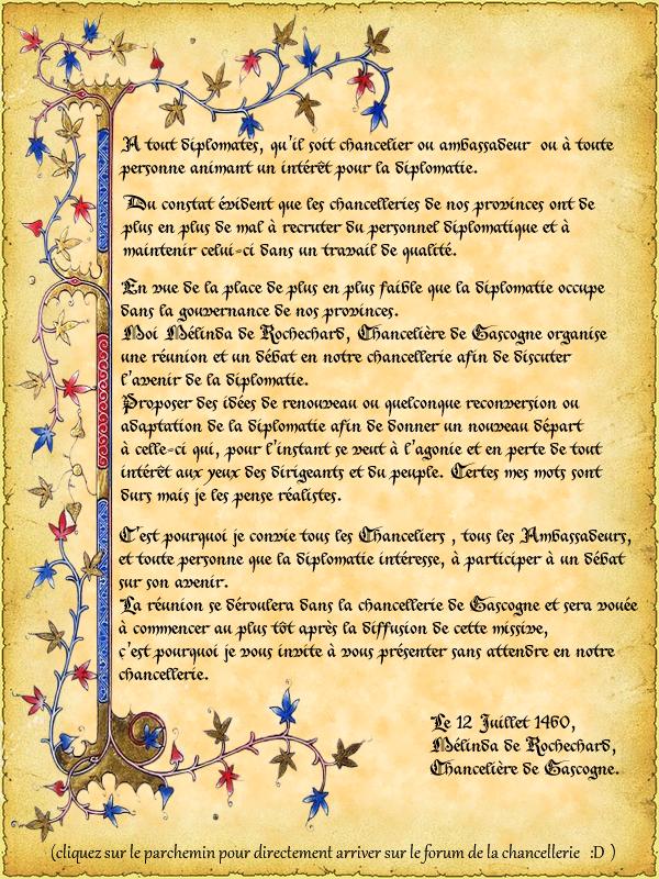 Mélinda de Rochechard, Invitations en Gascogne. 290488diplo