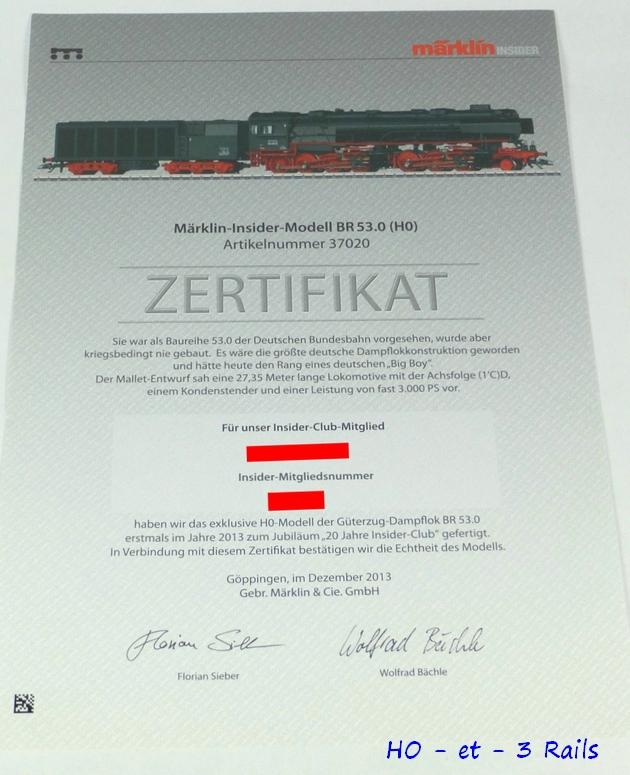 Les locomotives à vapeur articulées 294161Marklin37020BR53KondenstenderInsidermodellMFXDIGITALSOUND4R
