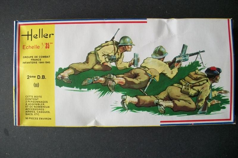Groupe de Combat Français (réf.130) 2ème DB (2) 1/35 295745Heller130135001GroupedeCombatFrance2DBII