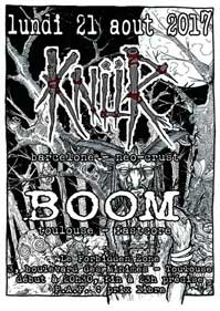[Toulouse - 21-08-2017] KNUR + BOOM 300537affiche21081720ko