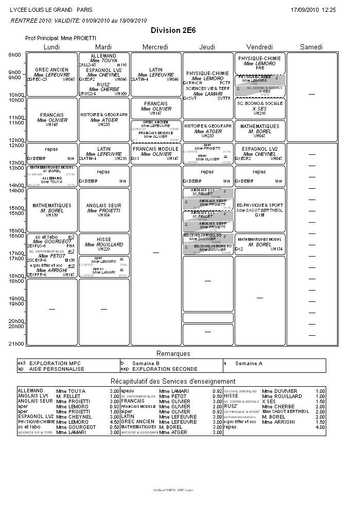 emploi - emploi du temps seconde 301755nouveauxemploisdutemps2e62