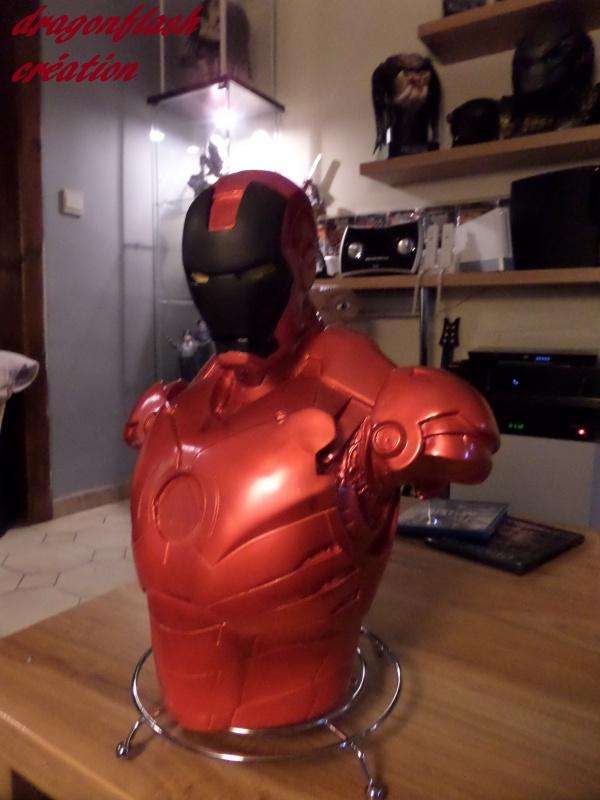 dragonflash création : buste iron man 1/2  (+-40 cm de haut) le final 3063709117