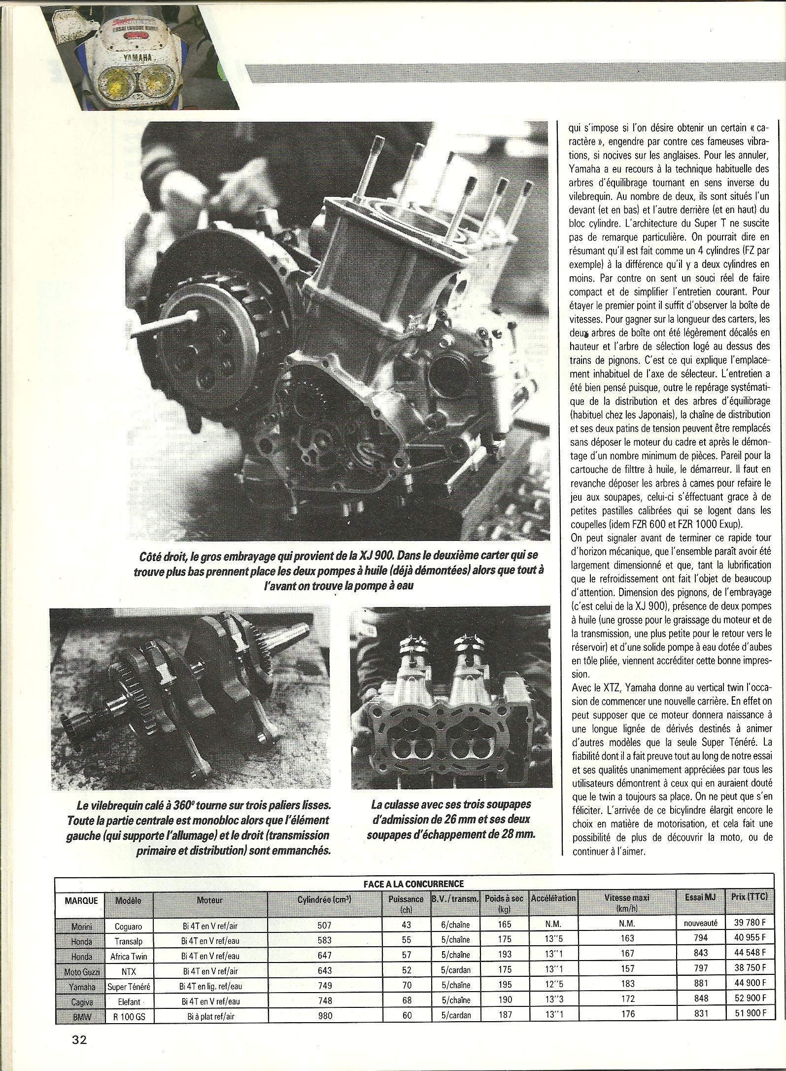 Essai longue durée 12'426km en Super ténéré 750 le 25 Mai 1989 307720p16001