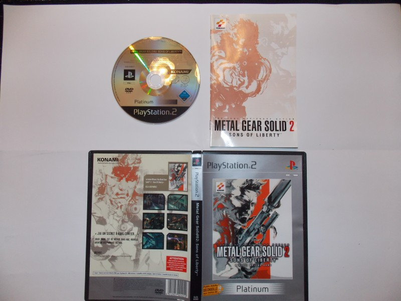 Metal Gear Solid 2 : Sons of Liberty 308037Playstation2MetalGearSolid2plat