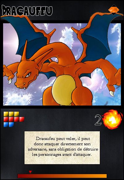 Jeu de cartes RPGDBZ 309906DracaufeucarteN8