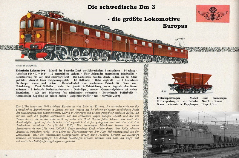 Les machines D/Da/Dm/Dm3 (base 1C1) des chemins de fer suèdois (SJ) 313460Marklinkatalogseitedm3