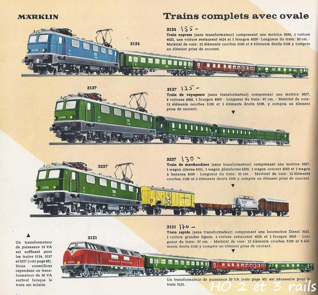Coffrets Märklin 1936 - 1968 (rouges, noirs, verts ou bleus) 314250Marklincatalogue1961R