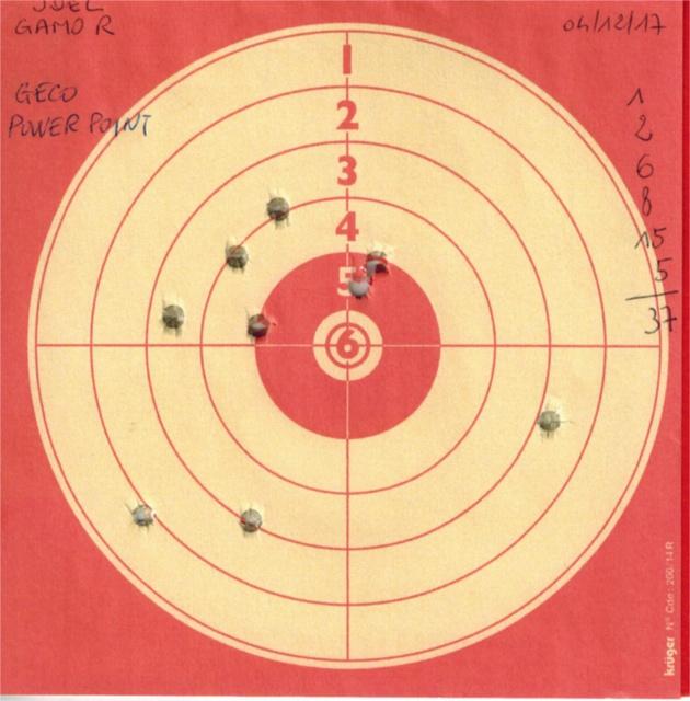 Tests plombs avec carabine Gamo Replay 316836GAMOREPLAYGECOPOWERPOINT
