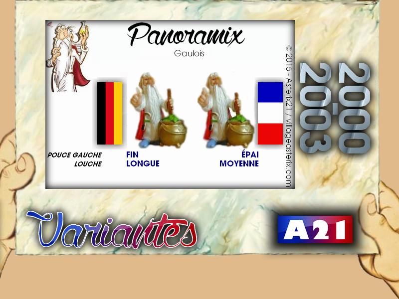 Astérix® les Variantes d'Hier et d'Aujourd'hui [Le Catalogue] 317757MarbreVariantesKinder20002003Panoramix