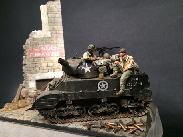 """Le laxatif"" - M8 Howitzer unité ""Hell on Wheels"" - 2nd Armored division, Normandie - Tamiya 1/35 323179IMG3485"