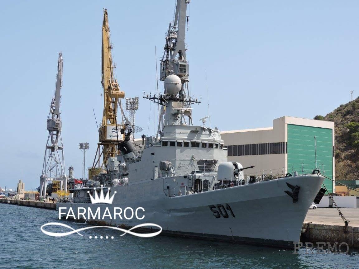 Royal Moroccan Navy Descubierta Frigate / Patrouilleur Océanique Lt Cl Errahmani - Bâtiment École - Page 3 32646320180104105101