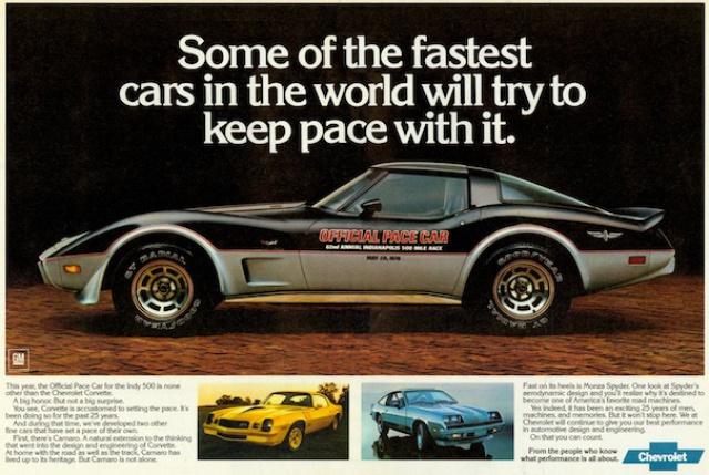 chevrolet corvette 1982 edition collector monogram au 1/8 - Page 2 329364corvettec3ads1978pacecar