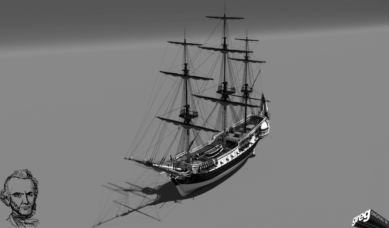 Frégate m'a première réalisation d'un navire en 3D. 330793Frgatestudio2noir