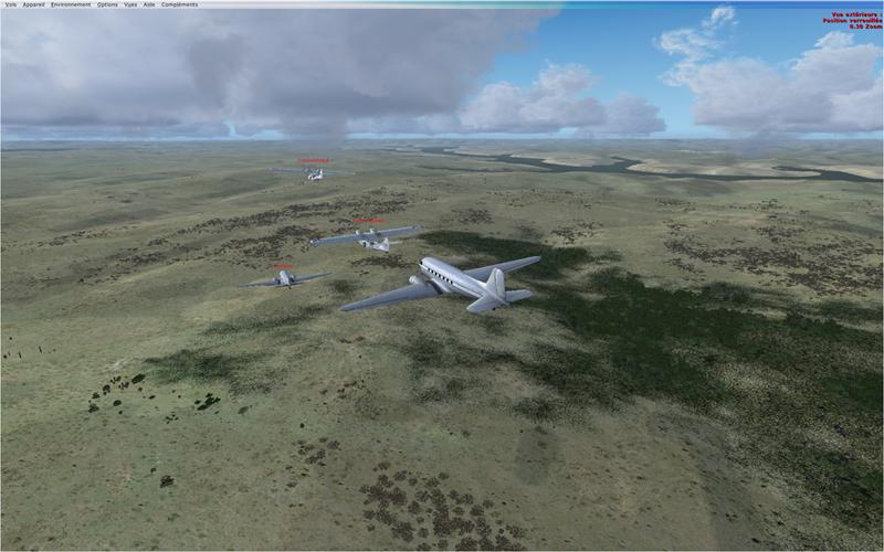 Vol en formation en Afrique (DC3) 333869201322221130549