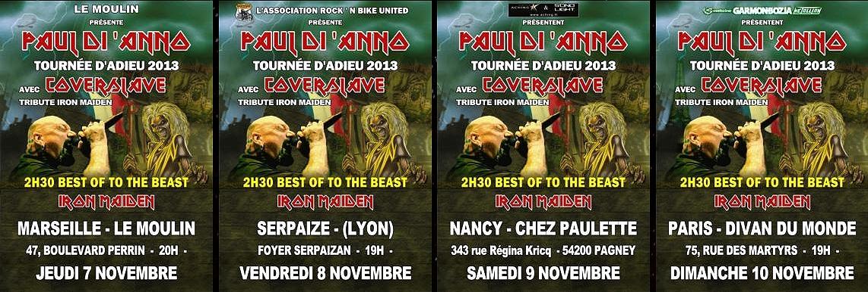 PAUL DI 'ANNO - TOURNEE D'ADIEU+COVERSLAVE  11/2013 346257Imagedes4flyers