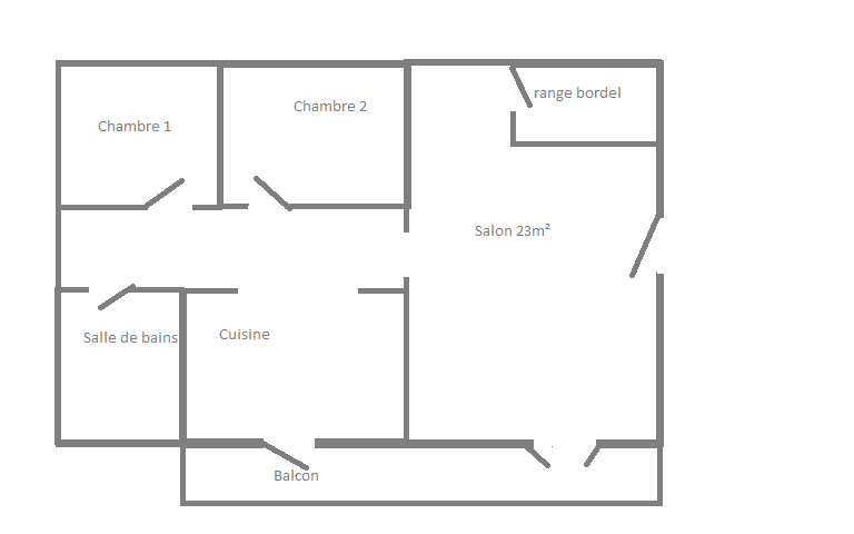Plan de l'appartement 348621planapparteren