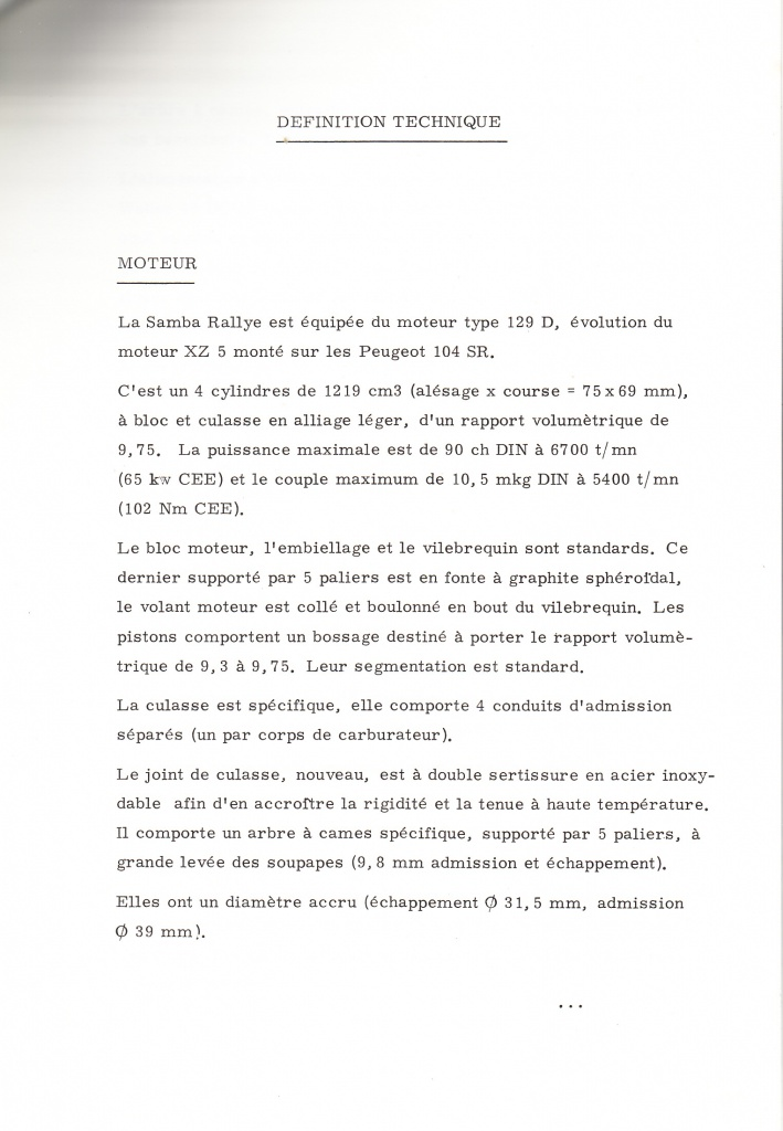 Dossier de presse Talbot Samba Rallye (septembre 1982) 354413a0004