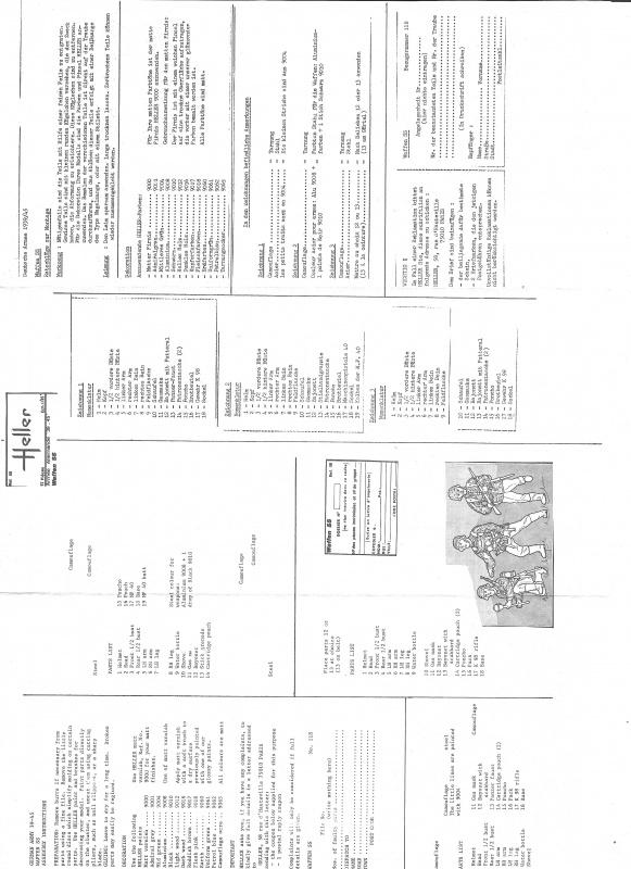 Groupe de Combat Allemand (réf.118) Waffen SS 1/35 355581Heller118135GCAWaffenSS003