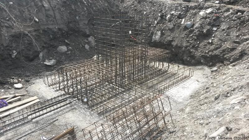 Construction du télésiège débrayable 6 places (TSD6) Roc de Tougne 35776720170603105302