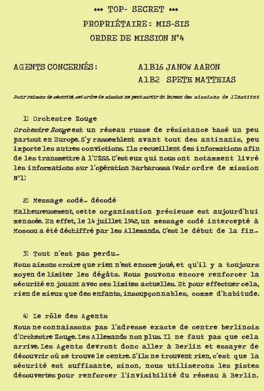 Mission n°4 : Orchestre Rouge menacé 359757ordredemissionn4