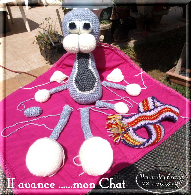 Mon Chat  au crochet ♥♥♥ 364989Chatgrissuite1