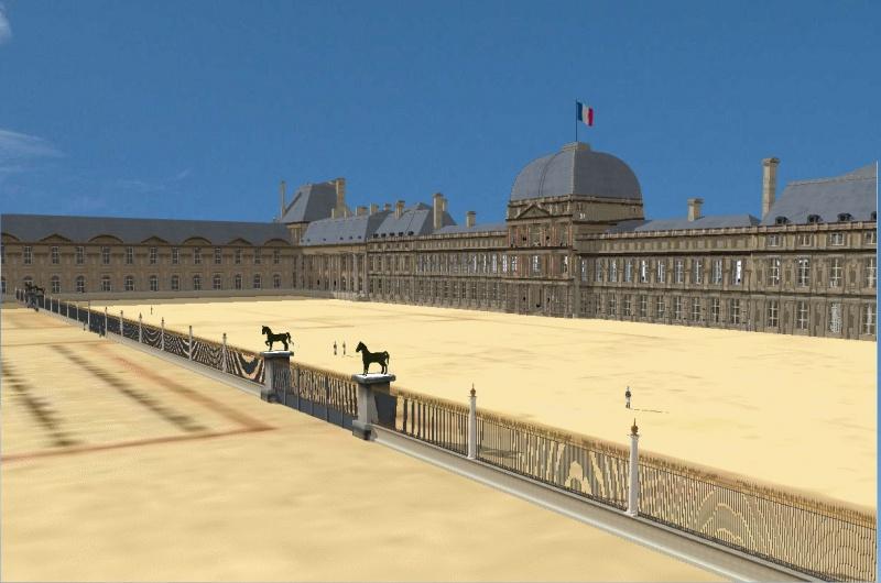 Reconstitution virtuelle du Palais des Tuileries, états Premier Empire et Second Empire 3667088044