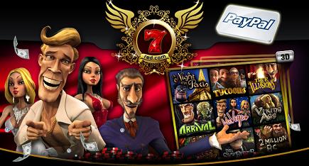 Soyez payé par Paypal avec 7red casino
