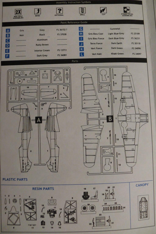 Morane Saulnier MS406 1/48 Classic Airframe 374827P1090590