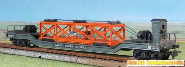 wagons spéciaux surbaissés 375254VBsurbaissbogiesgrisguritepoutrelleorangeIMG3512