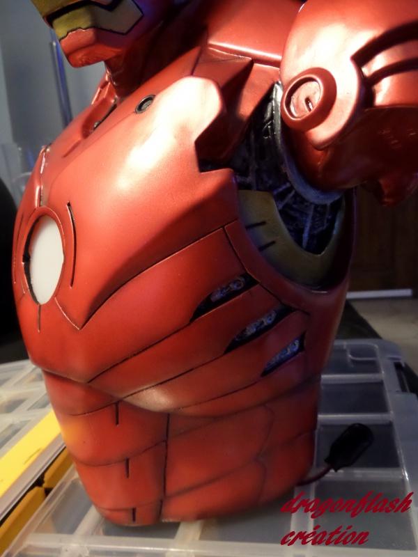 dragonflash création : buste iron man 1/2  (+-40 cm de haut) le final 3782477636