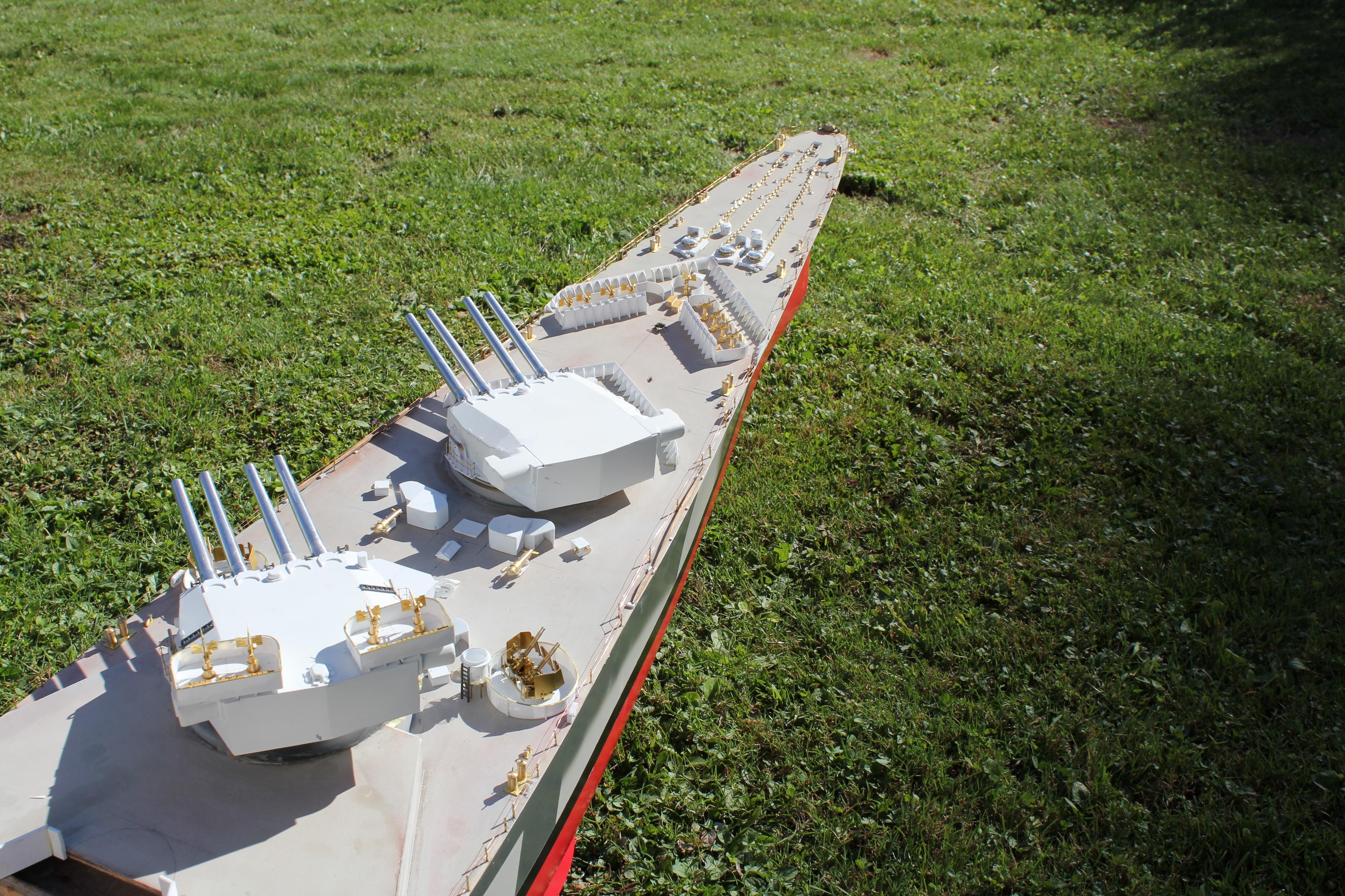 Cuirassé Richelieu 1/100 Vrsion 1943 sur plans Polonais et Sarnet + Dumas 383616IMG05943600x2400