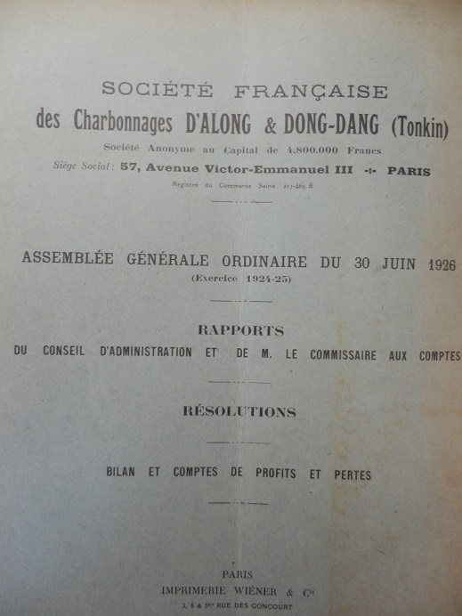 Mines d'Indochine, plantation de tabacs et d'hévéas ..... 384634P8120028
