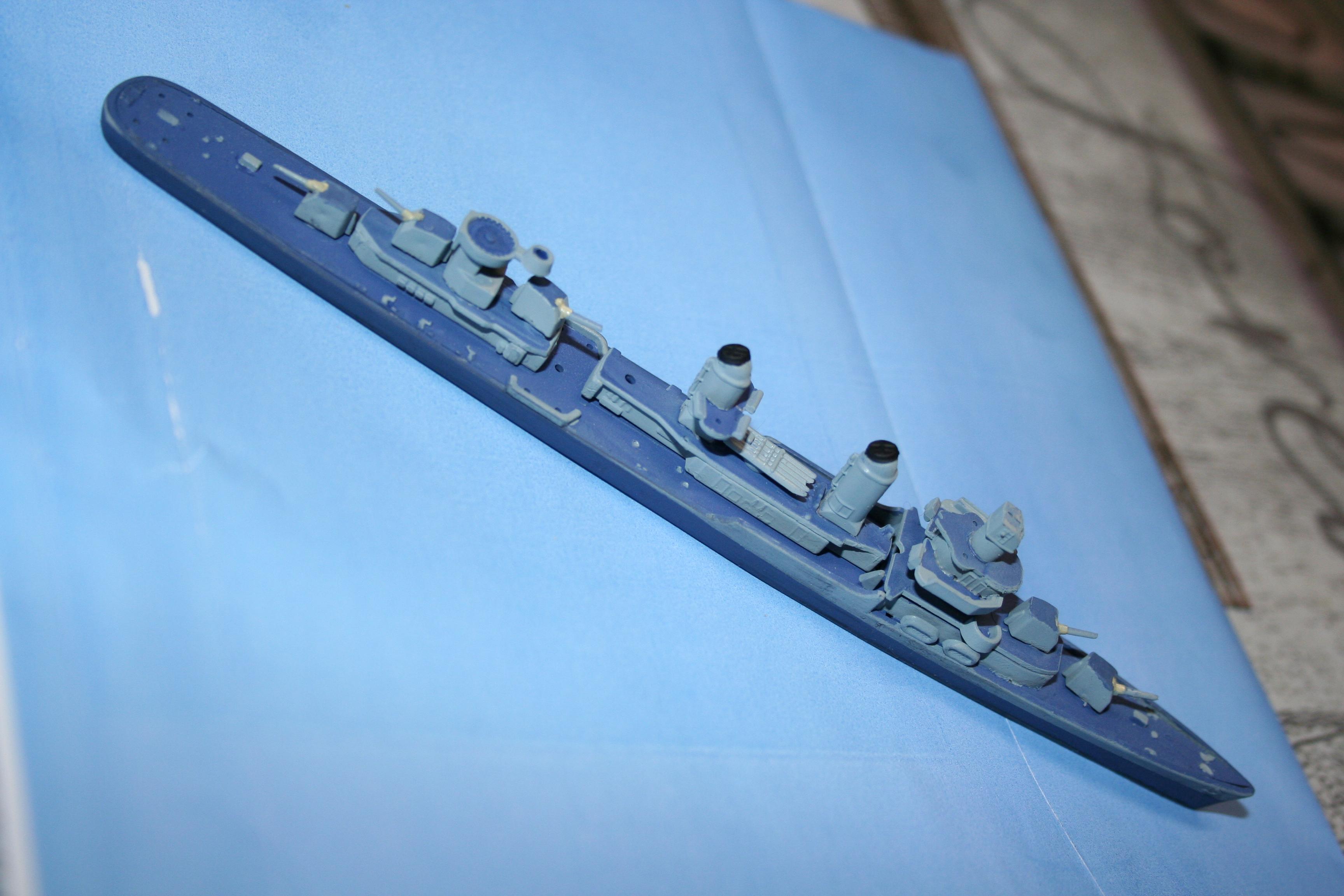 """USS Fletcher """"Revell"""" 1/700 386009IMG3646"""