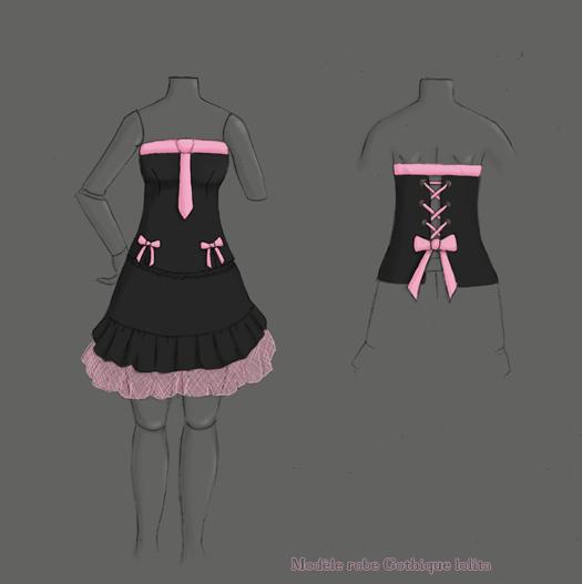 [demande aide] créer une robe gothic lolita pour MH 388622robegothlolita