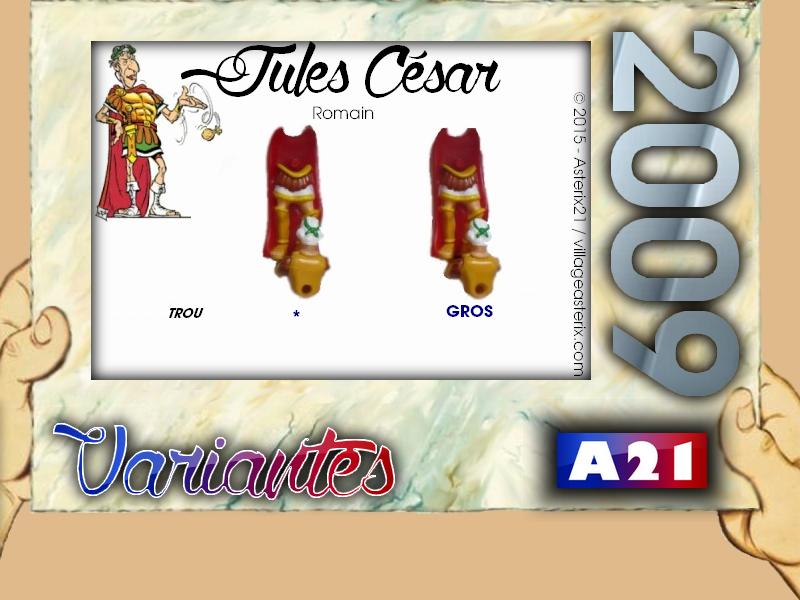 Astérix® les Variantes d'Hier et d'Aujourd'hui [Le Catalogue] 389232MarbreVariantesKinder2009JulesCsar
