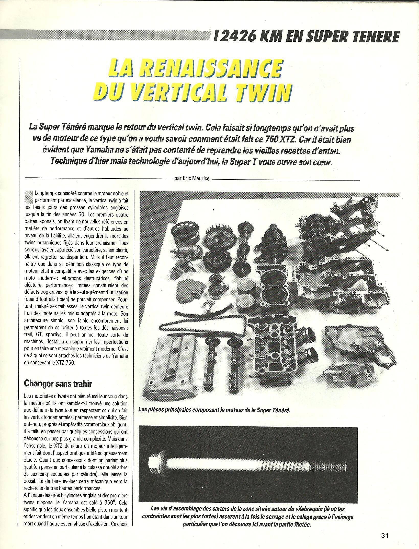 Essai longue durée 12'426km en Super ténéré 750 le 25 Mai 1989 393250p15001