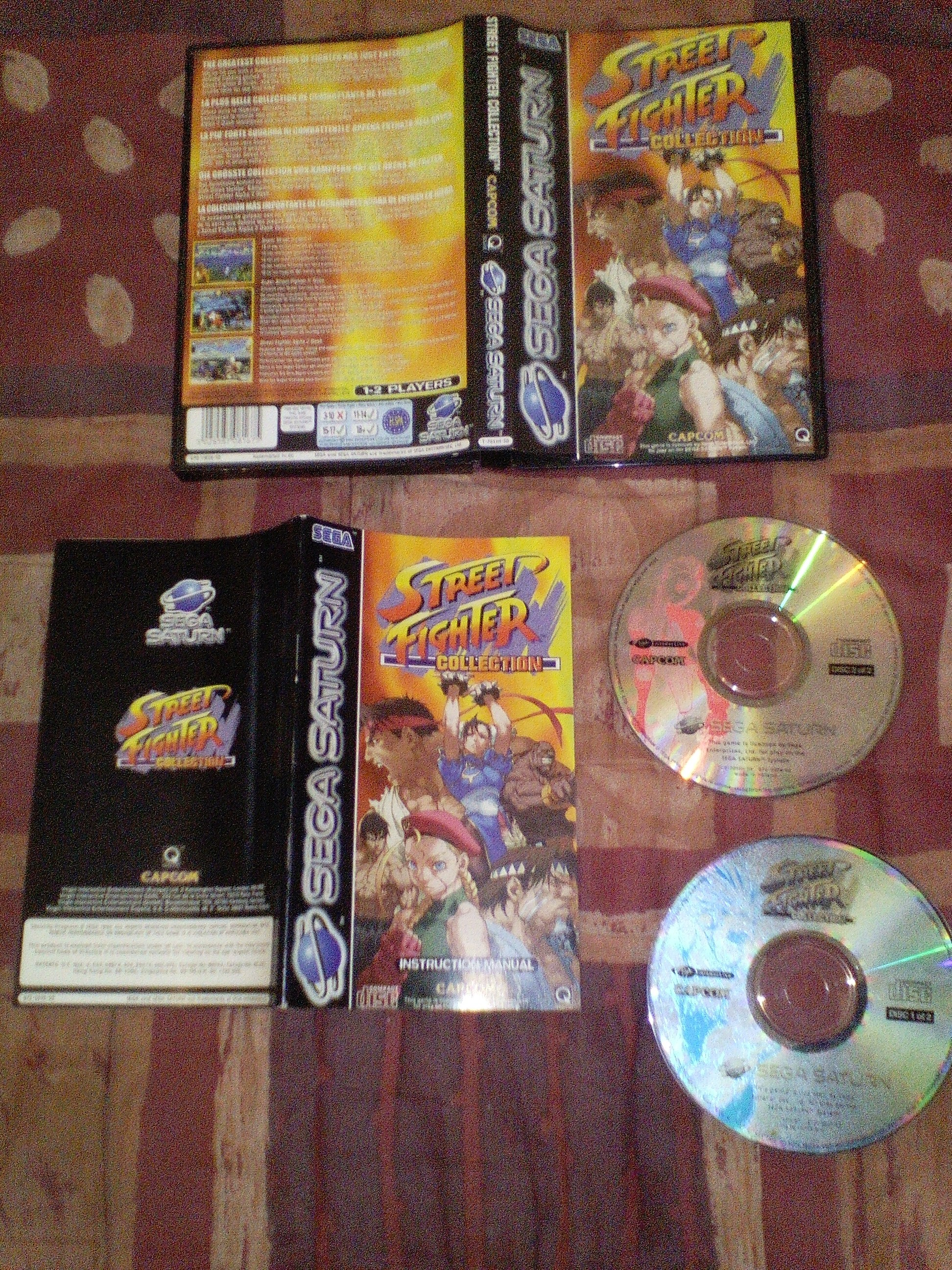 vends street fighter collection complet saturn PAL 393833streetfightercollectionsaturn