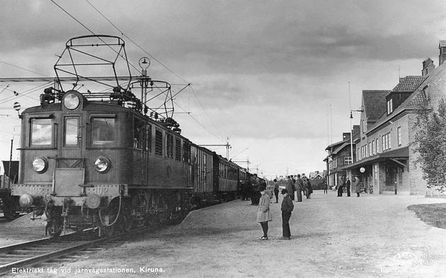 Les machines D/Da/Dm/Dm3 (base 1C1) des chemins de fer suèdois (SJ) 399589SJDJrnagsstationnenKirunaR