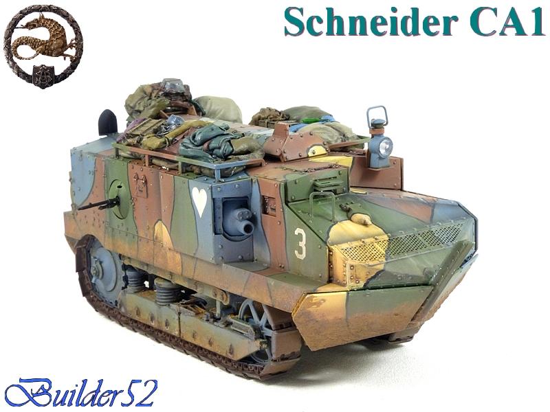 CHAR SCHNEIDER CA 1 - HOBBY BOSS 1/35 401035P1050069